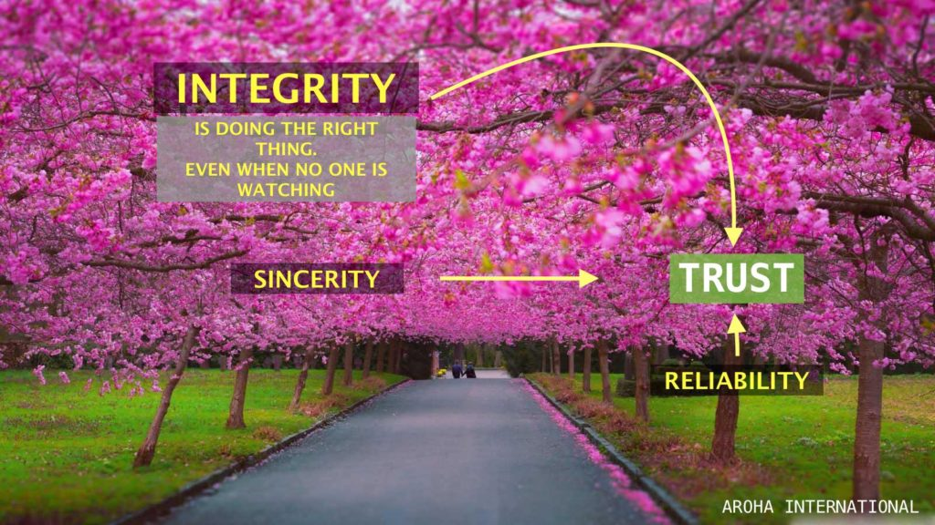 IMAGE OF OUR VALUES AT AROHA INTERNATIONAL